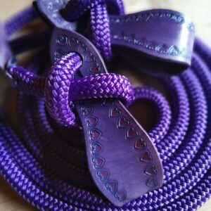 Western Loop Reins purple
