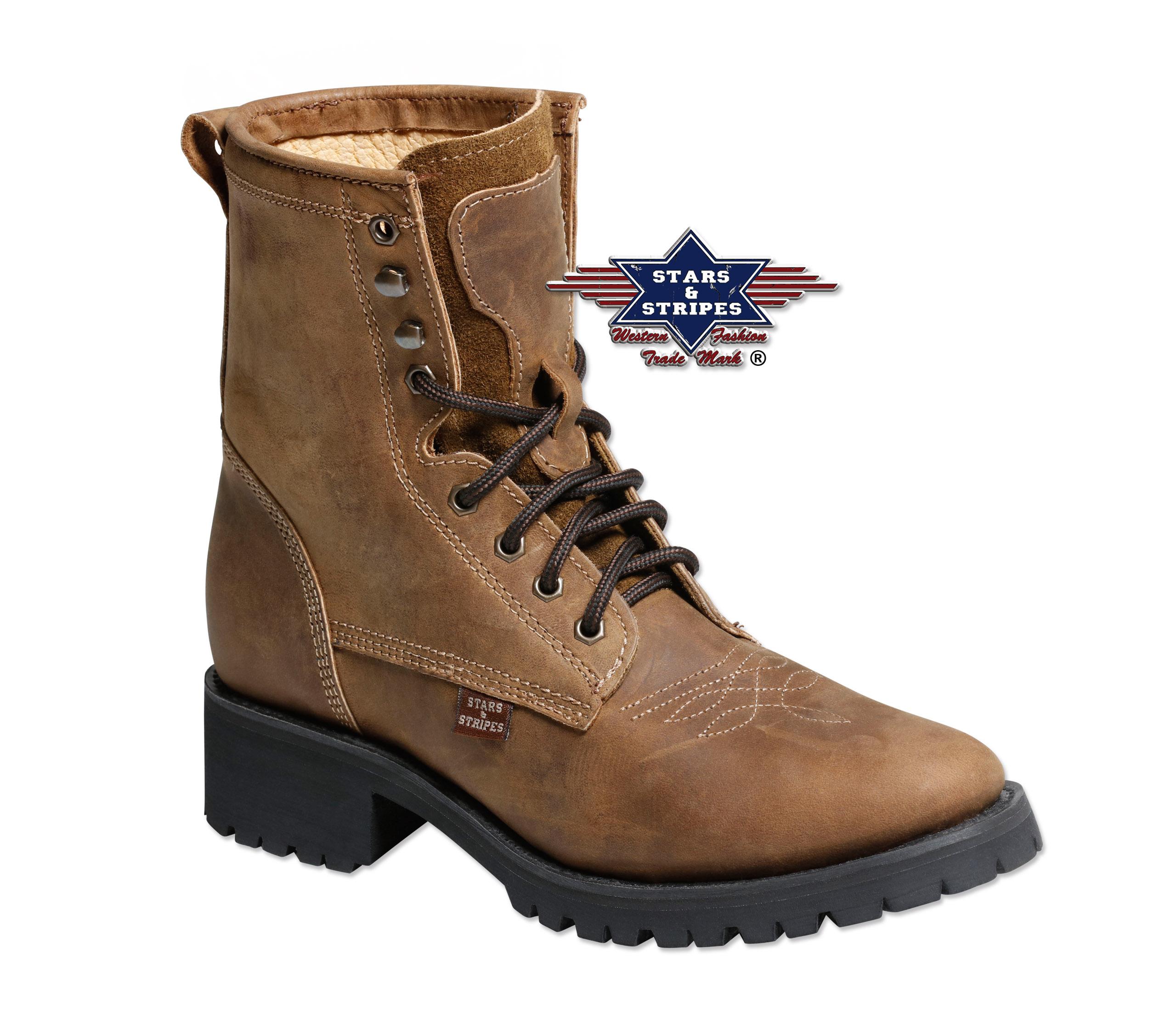 Boots braun Stars & Stripes